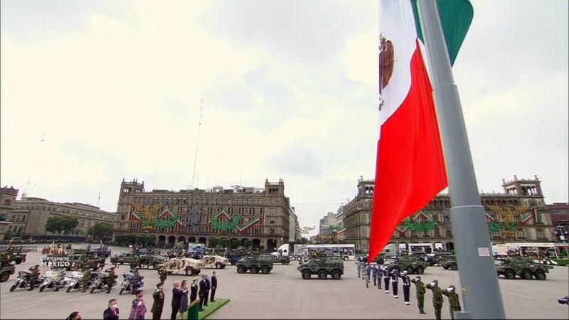 #EnVivo: En el Zócalo de la Ciudad de México, minuto de silencio por fallecidos por COVID-19 y desfile militar conmemorativo del 210 aniversario de la Independencia de México