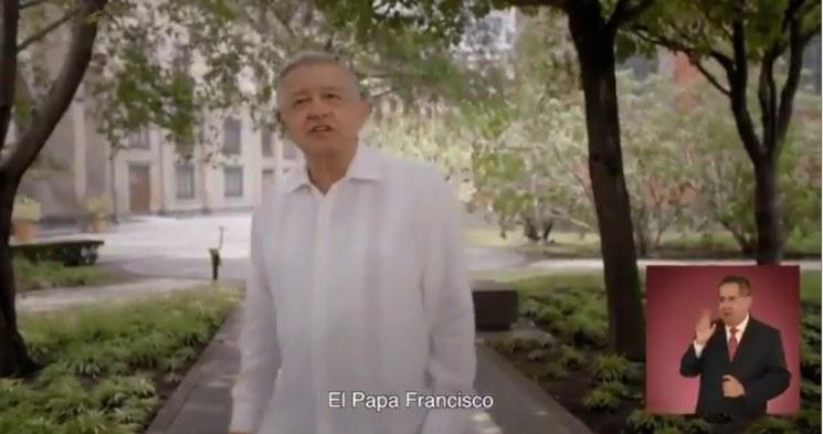TEPJF ordena retirar spot de AMLO que menciona al Papa y al evangelio