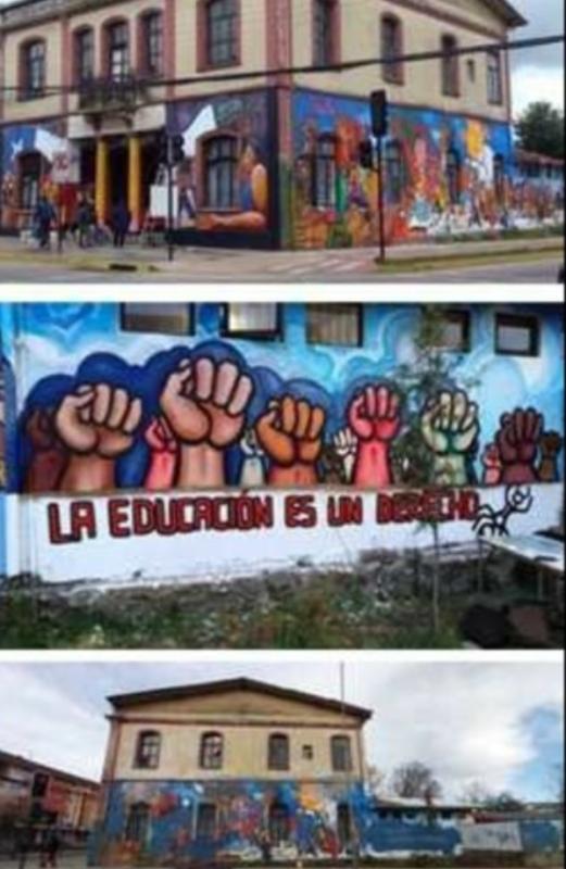Ultraderechistas chilenos destruyen un mural que pintor mexicano dedicó a Gabriela Mistral