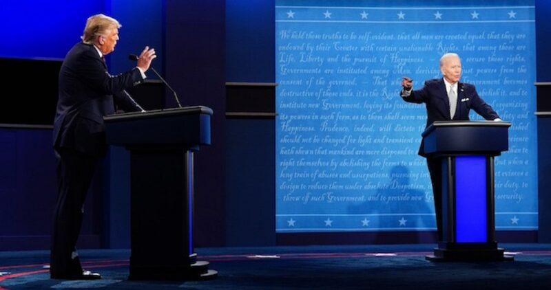 Video: El primer debate Biden-Trump es un verdadero caos: se ofenden, se arrebatan la palabra, gritan…