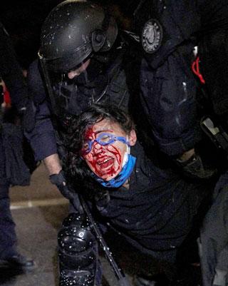 Se aviva la represión en Portland. La policía declara ilegales las concentraciones de manifestantes