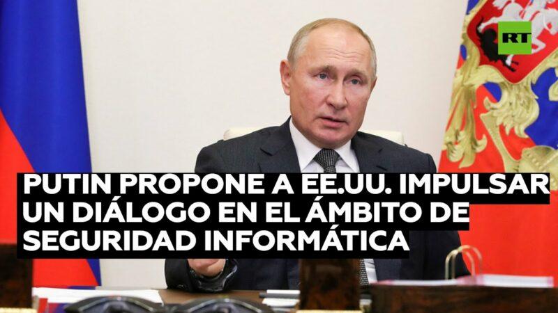 """Putin propone a EE.UU. intercambio de """"garantías"""" para que ambos países no intervengan en elecciones del otro ni en asuntos internos"""