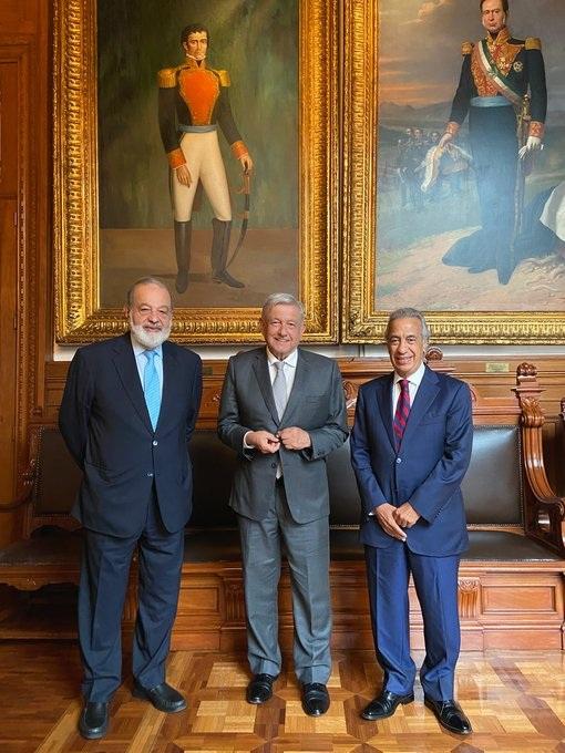 Se reúne AMLO con Carlos Slim y Miguel Rincón