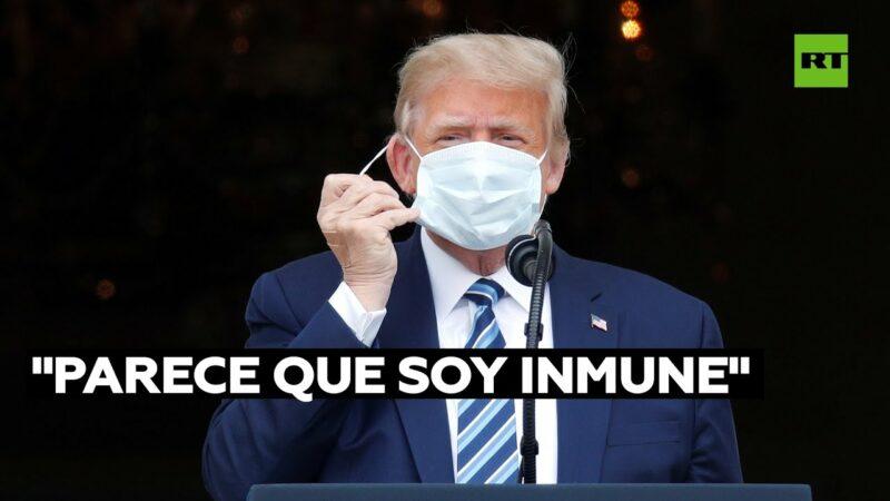 """Videos: """"Parece que soy inmune"""": Trump afirma que ya no tiene covid-19. Relanza su campaña"""