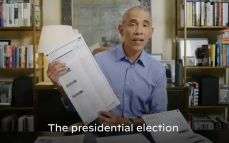 "Video: ""Acabo de votar por correo por Joe Biden y Kamala Harris"": Obama"