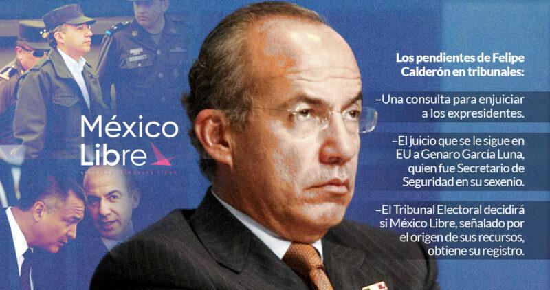 El futuro de Calderón se decide en tribunales: hoy, México Libre. Ayer, la SCJN. El 7, audiencia en EU
