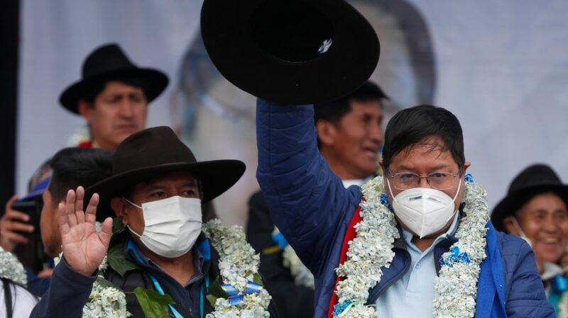 Arce y Choquehuanca reciben constancias como presidente y vicepresidente de Bolivia