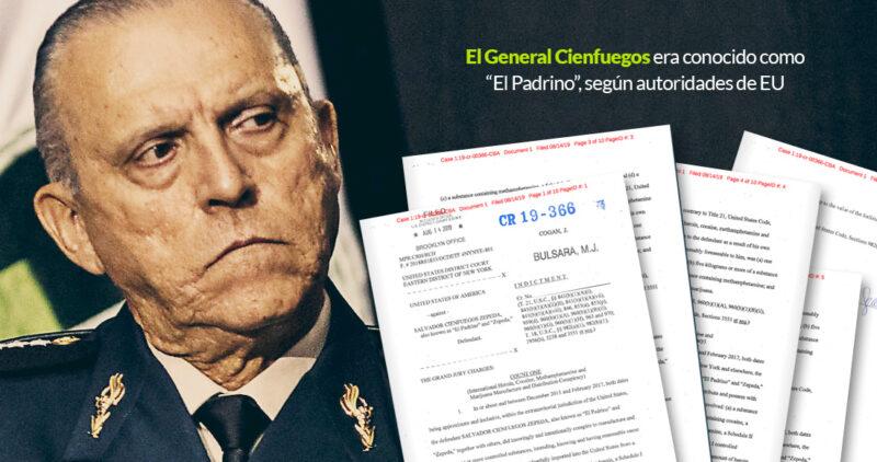 """El general Cienfuegos, """"El Padrino"""", traficó drogas siendo titular de Sedena con Peña, dice el Gobierno de EU"""