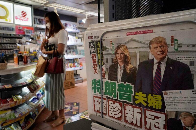 Hospitalización de Trump provoca caos e incertidumbre política en EU