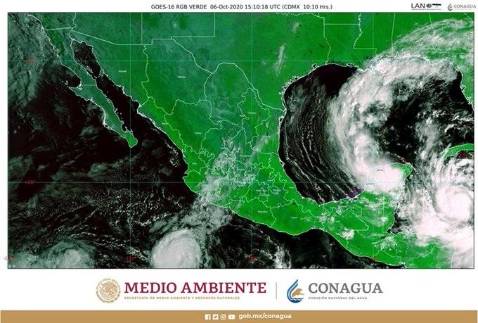 """Video: """"Delta"""", el huracán más poderoso que ha llegado a México en 15 años"""