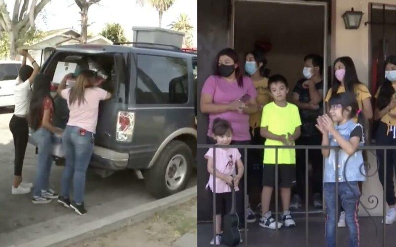 Un año durmiendo en su carro: la odisea de una familia hispana de 13 miembros para encontrar una casa