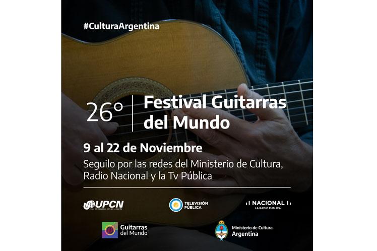 Abrirá mañana en Argentina el Festival de Guitarras del Mundo