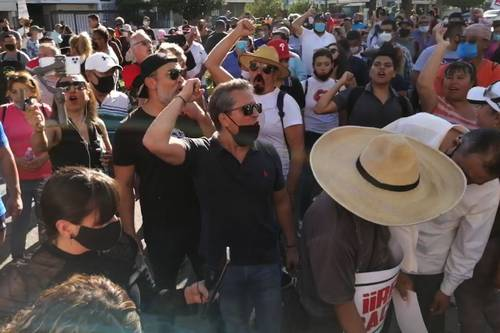 Tercera marcha para exigir la renuncia del gobernador Alfaro