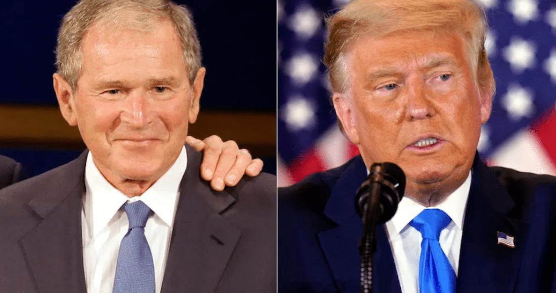 George Bush felicita a Biden y es el republicano de más alto rango en contradecir a Donald Trump