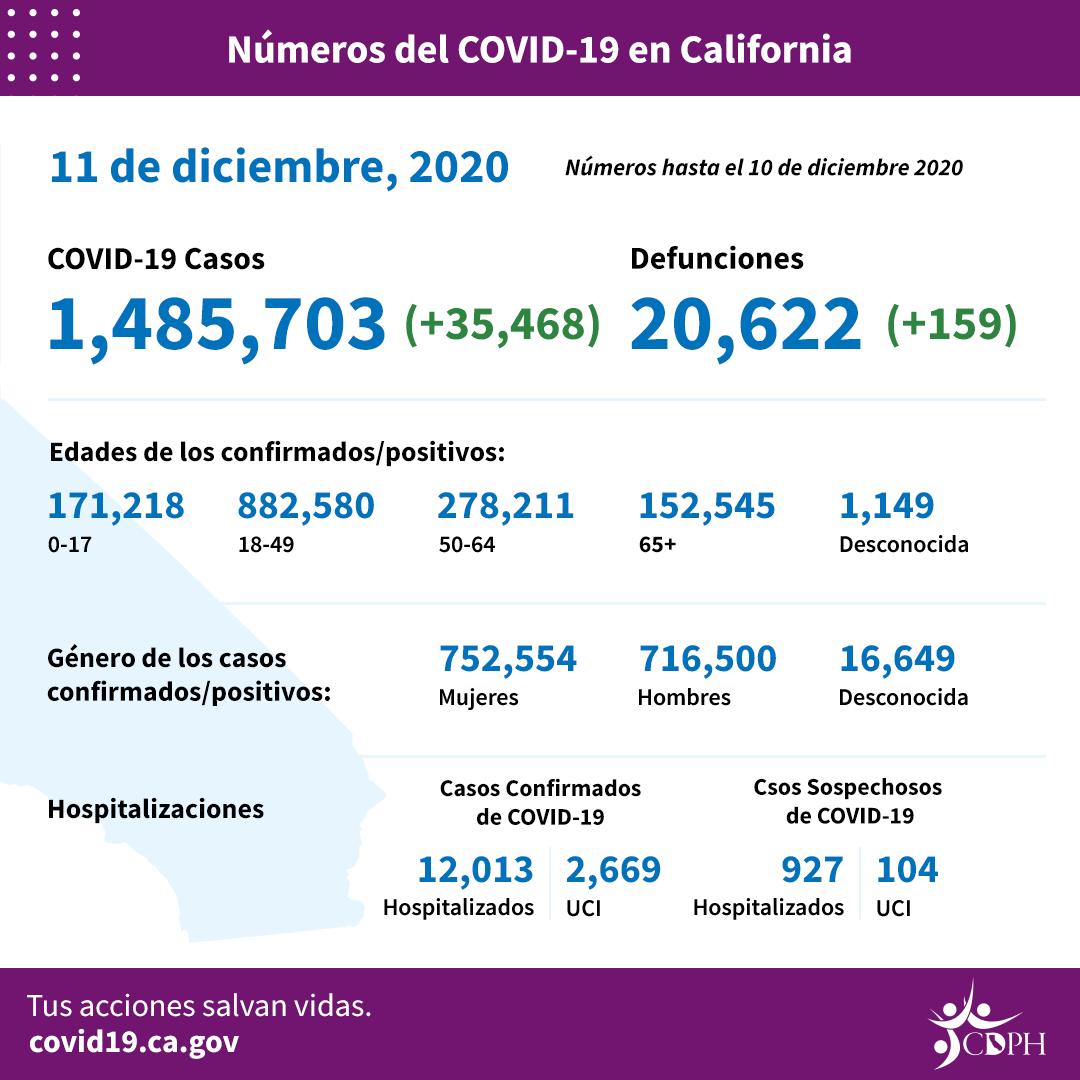 Cifra récord de 13,815 nuevos casos de COVID en un día y 50 fallecidos en Los Angeles