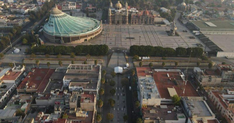 FOTOS aéreas muestran la Basílica vacía; es la responsabilidad del pueblo de México: AMLO