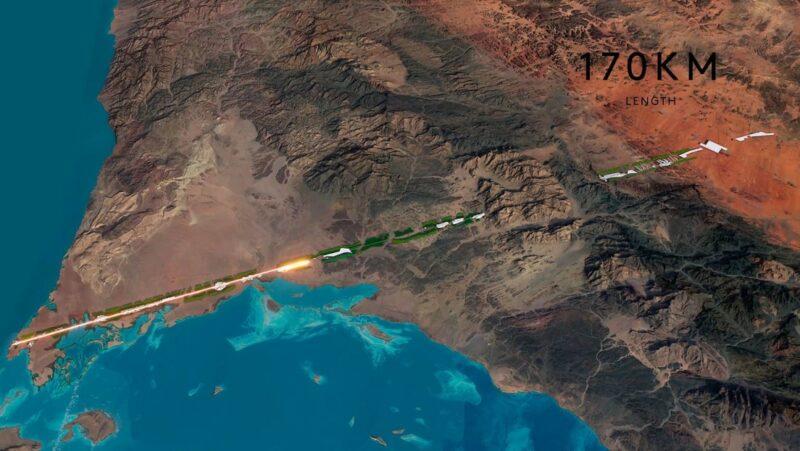 """Arabia Saudita anuncia la construcción de una ciudad de 170 kilómetros cuadrados """"sin automóviles, calles, ni emisiones de carbono"""". Tendrá un millón de habitantes"""