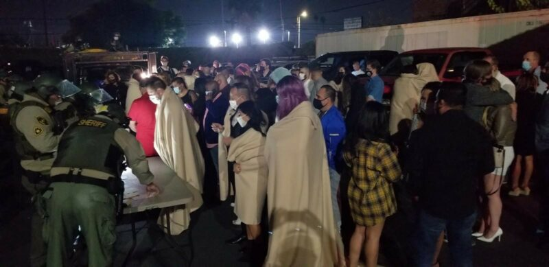 182 arrestos en fiestas masivas en Los Ángeles en plena crisis de la pandemia