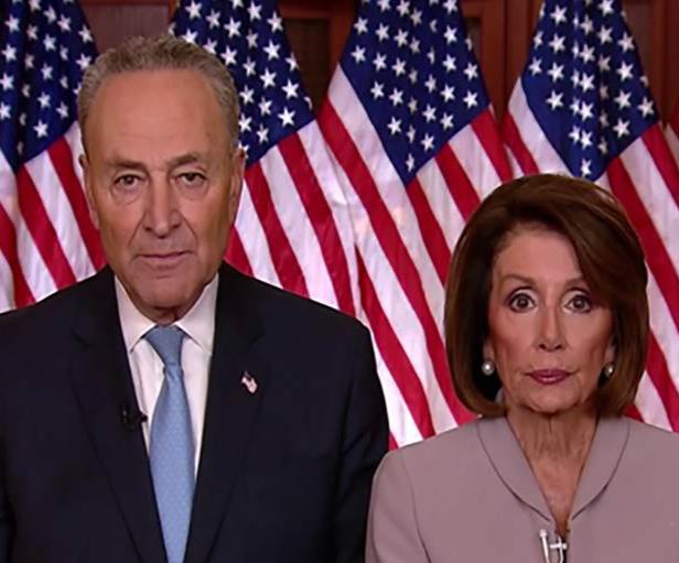 Los líderes legislativos Nancy  Pelosi y Charles E. Schumer esperan respuesta del vicepresidente Pence para destituir a Trump y procesarlo
