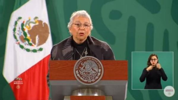 AMLO se encuentra estable, optimista y pronto se recuperará, aseguró la Secretaria de Gobernación, Olga Sánchez Cordero