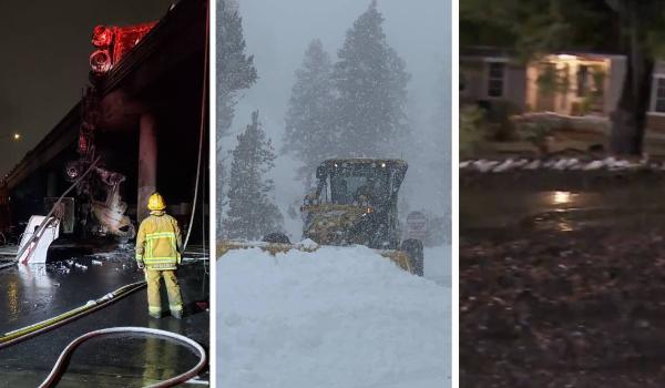 Accidentes, deslaves e inundaciones: los estragos de la tormenta invernal en el sur de California