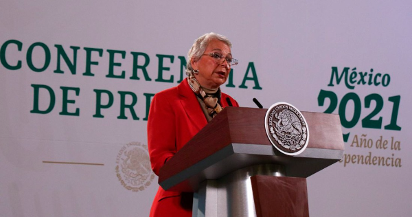"""AMLO está """"optimista"""" y """"fuerte"""": Sánchez Cordero; agradece muestras de apoyo a jefes de Estado"""