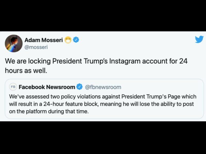 Critica AMLO a redes por censurar cuentas de Trump