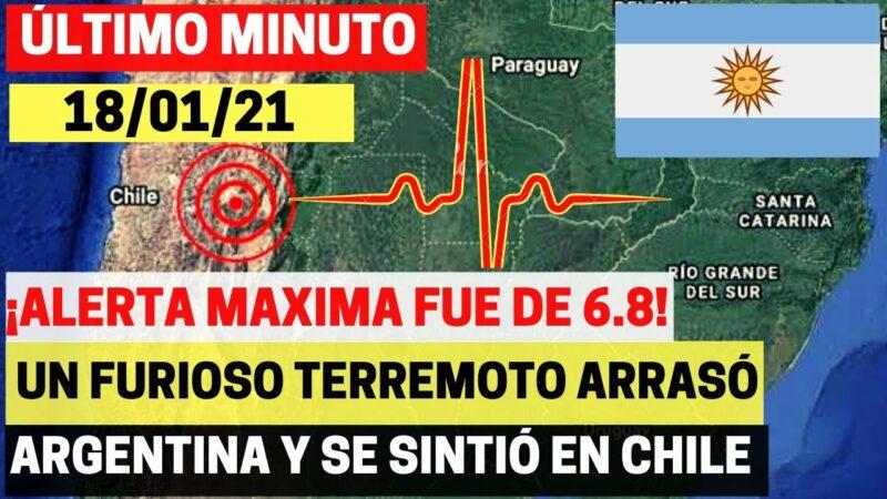 Videos: Un sismo de magnitud 6,4 sacude la frontera entre Argentina y Chile