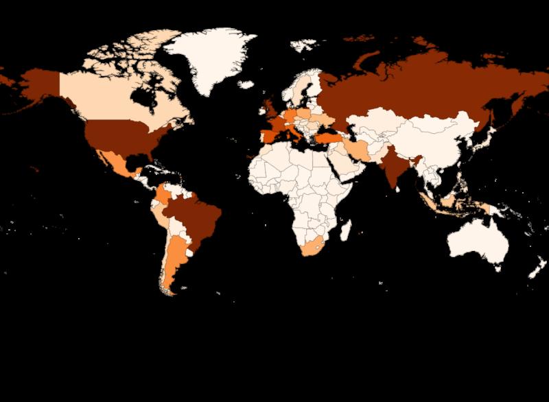 105,2 millones de casos de COVID-19 y más de 2,2 millones de muertos en el mundo