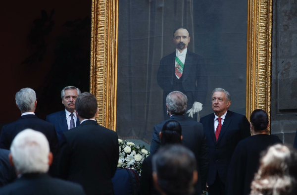 Video: Acompañado del presidente de Argentina, Alberto Fernández, AMLO encabeza ceremonia por 108 aniversario luctuoso de Francisco I. Madero