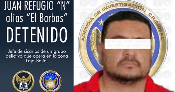 """""""El Barbas"""", presunto jefe de sicarios del Cártel Santa Rosa de Lima, es detenido en Michoacán"""