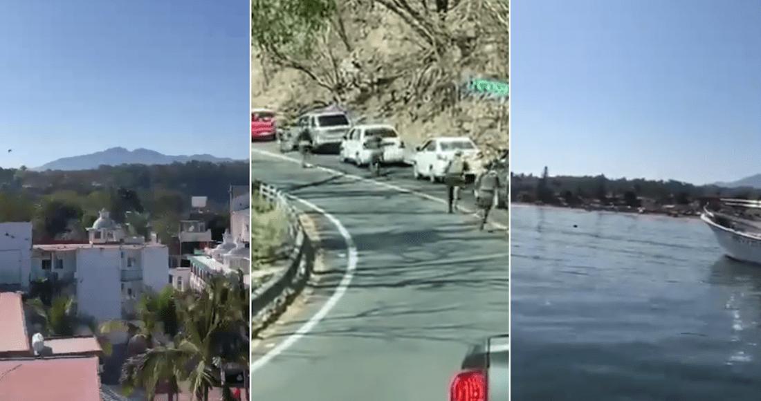 La gente grita, corre asustada. VIDEOS exhiben el pánico por balacera en Guayabitos, Nayarit
