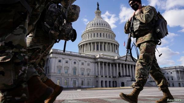 El Pentágono mantendrá a los 5,200 elementos de la Guardia Nacional en el Capitolio durante dos meses