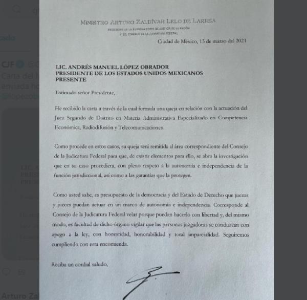 """""""De existir elementos"""" se investigará al juez que suspendió provisionalmente la reforma eléctrica, responde el presidente de la Suprema Corte a AMLO"""