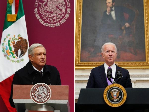 """México ya no es el """"patio trasero"""" de EU, dijo Biden a AMLO"""