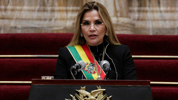 Detenida, Jeanine Áñez, ex presidenta de facto de Bolivia
