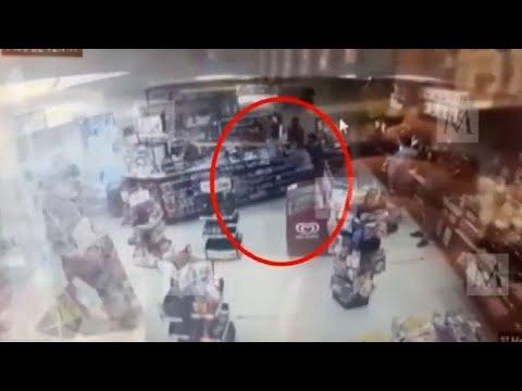 VIDEO muestra a la salvadoreña Victoria dentro de un Oxxo minutos antes de ser asesinada por policías en Tulum, difunde Milenio TV