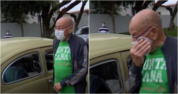 Empobrecido, un maestro de Brasil, de 87 años, vende su auto que tuvo durante medio siglo. Sus ex alumnos lo compran y se lo regresan
