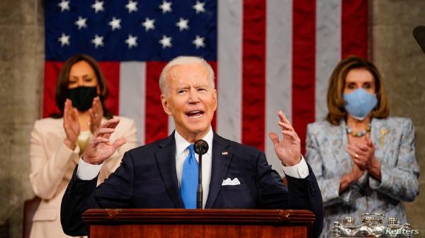 """Video: Biden: """"Estados Unidos vuelve a estar en marcha"""""""