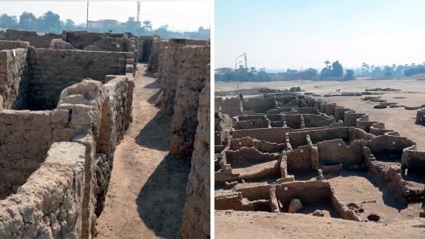 Hallan en Egipto una 'ciudad dorada perdida' de 3.000 años,