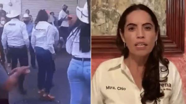 Nuevo video muestra que Monreal no toca el glúteo de la candidata Rocío Moreno