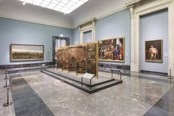 Video: El Museo del Prado restaura y exhibe biombo de la Conquista de México