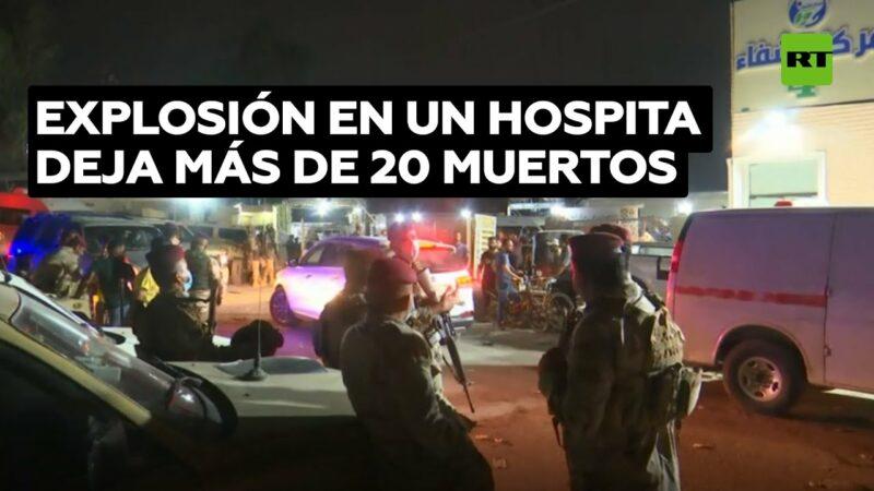 Videos: Explota un tanque de oxígeno en hospital COVID en Irak: más de 20 muertos y decenas de heridos