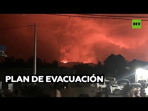 Videos: Hace erupción un volcán en Goma, de dos millones de habitantes, en el Congo. Evacúan pobladores. La lava desciende a 96 kilómetros por hora