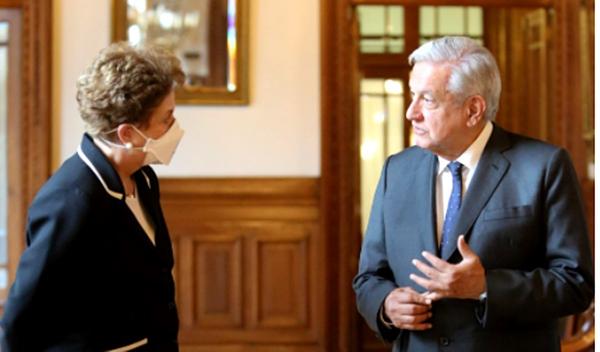 Video: AMLO se reunió con la ex presidenta de Brasil, Dilma Rousseff, en Palacio Nacional. Fue designada como Huésped Distinguida de la capital mexicana