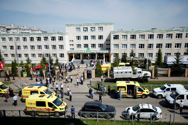Video: Pistolero mata a siete estudiantes, a un profesor y hiere a 21, en una escuela rusa