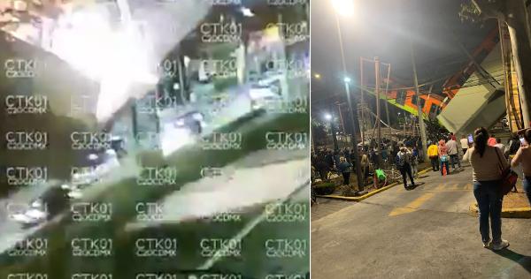 Videos: Tren del metro que corre elevado se viene a pique al desplomarse una estructura de la línea 12 en la Ciudad de México. Aún se desconoce el número de pasajeros afectados