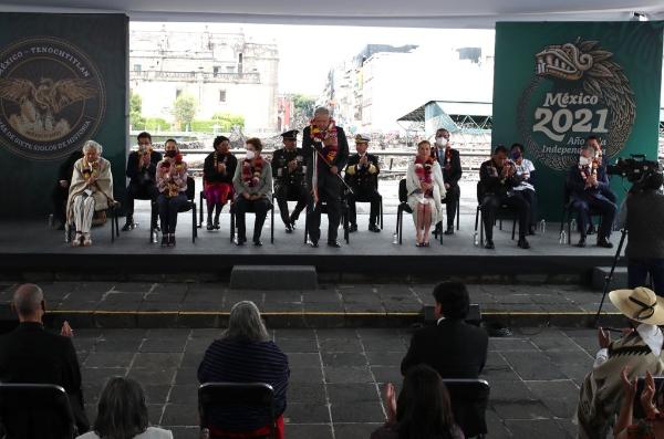 """Video: Hay voluntad colectiva en favor del cambio, de construir una nueva República, destacó AMLO en la ceremonia """"México-Tenochtitlán, más de siete siglos de historia"""""""