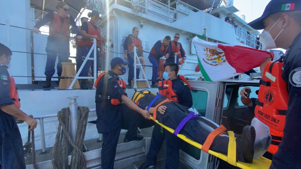 Participa Semar en ejercicios de seguridad junto a buque de EU