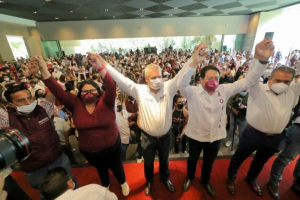 Alfredo Ramírez Bedolla se registra como candidato de Morena al gobierno de Michoacán
